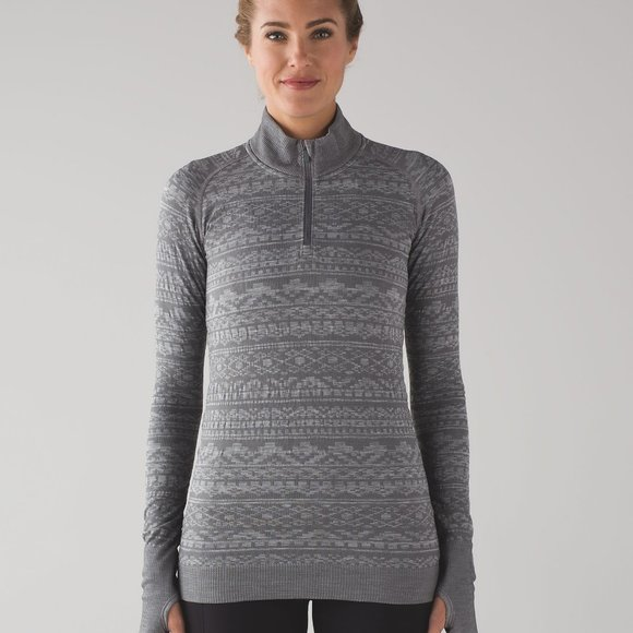 Lululemon Rest Less Pullover Top Size 6 Gray
